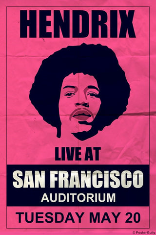 Wall Art, Hendrix | Francisco Concert, - PosterGully