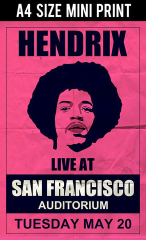 Mini Prints, Hendrix | Francisco Concert | Mini Print, - PosterGully