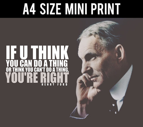 Mini Prints, Henry Ford Quote | You Are Right | Mini Print, - PosterGully