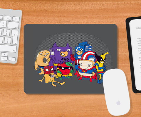 Mousepads, Heroic Breakfast Light Grey Mousepad | By Captain Kyso, - PosterGully