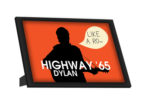 Framed Art, Highway 65 Bob Dylan Framed Art, - PosterGully