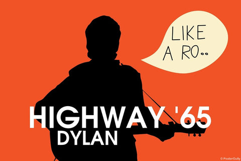 Wall Art, Highway 65 Bob Dylan, - PosterGully