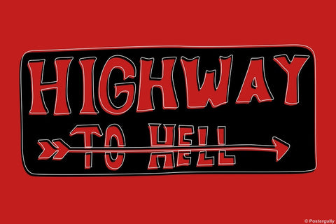Wall Art, Highway To Hell | Pop Color, - PosterGully