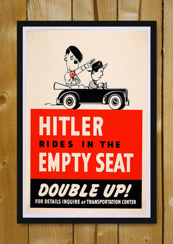 Glass Framed Posters, Hitler Rides In The Empty Seat Glass Framed Poster, - PosterGully - 5