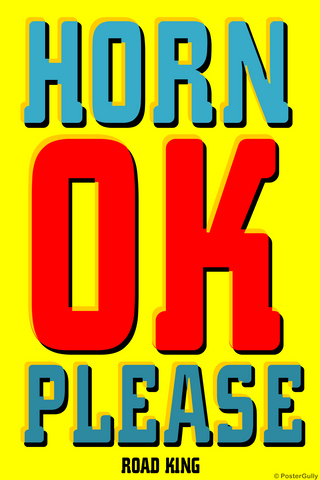 Wall Art, Horn OK Please Popart, - PosterGully