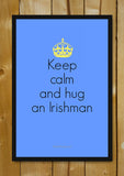 Glass Framed Posters, Hug An Irishman Glass Framed Poster, - PosterGully - 1