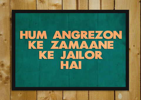 Glass Framed Posters, Hum Angrezon Ke Zamaane Sholay Glass Framed Poster, - PosterGully - 1