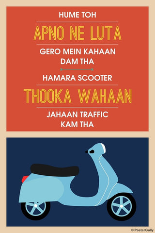 Wall Art, Hume Toh Apno Ne Loota | Hindi Humour, - PosterGully