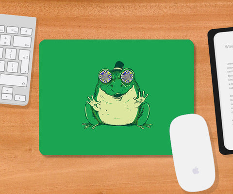 Mousepads, Hynogenic Toad - Green Mousepad | By Captain Kyso, - PosterGully