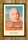 Glass Framed Posters, I Am Free Dom Fast And Furious Glass Framed Poster, - PosterGully - 1