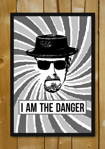 Glass Framed Posters, I Am The Danger Breaking Bad Artwork Glass Framed Poster, - PosterGully - 1
