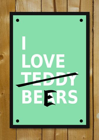 Glass Framed Posters, I Love Beers Glass Framed Poster, - PosterGully - 1