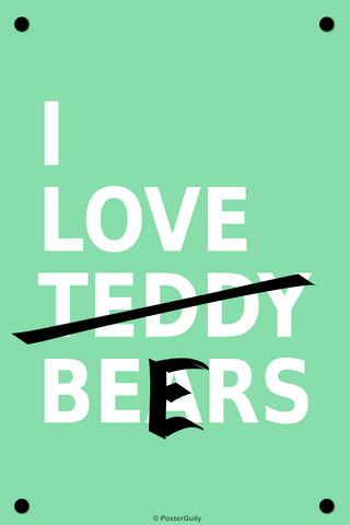 Wall Art, I Love Beers, - PosterGully