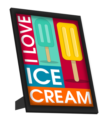 Framed Art, I Love Ice Cream Framed Art, - PosterGully