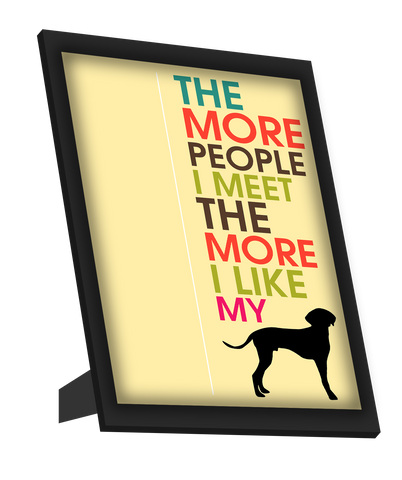 Framed Art, I Love My Dog Humour Framed Art, - PosterGully