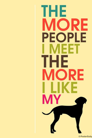 Wall Art, I Love My Dog Humour, - PosterGully