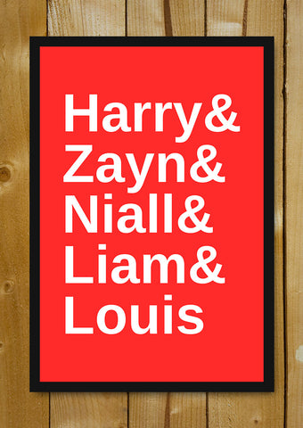 Glass Framed Posters, I Love One Direction 2 Glass Framed Poster, - PosterGully - 1