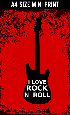 Mini Prints, I Love Rock N' Roll | Mini Print, - PosterGully