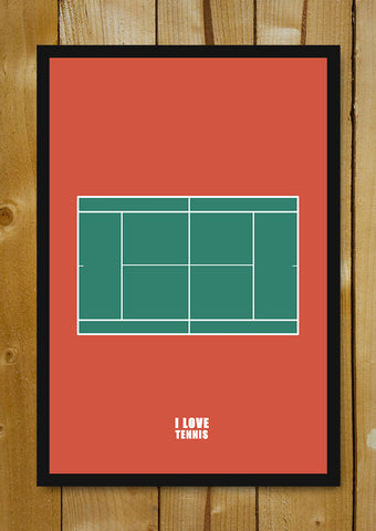 Glass Framed Posters, I Love Tennis Glass Framed Poster, - PosterGully - 1