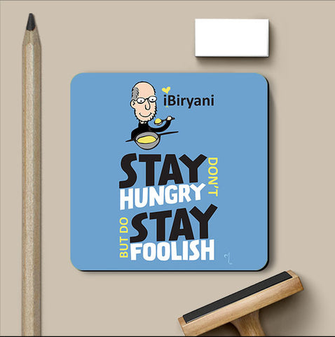 PosterGully Coasters, Steve Jobs-Stay Hungry Stay Foolish Coaster | Artist: MyArtini Bar, - PosterGully