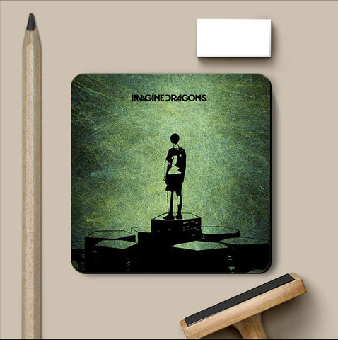 PosterGully Coasters, Imagine Dragons Coaster | Artist: Devraj Baruah, - PosterGully