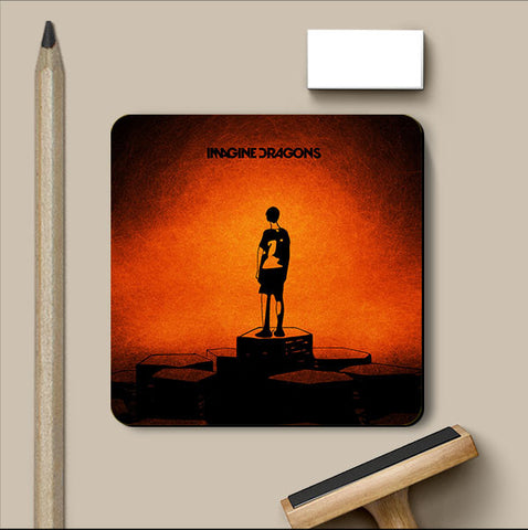 PosterGully Coasters, Imagine Dragons Bright Coaster | Artist: Devraj Baruah, - PosterGully