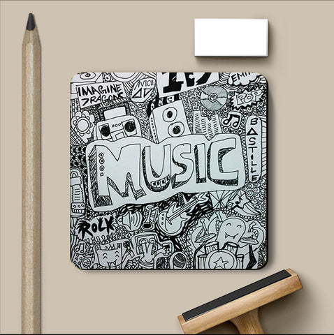 PosterGully Coasters, Imagine Music Coaster | Artist: Aishwarya Girish Menon, - PosterGully