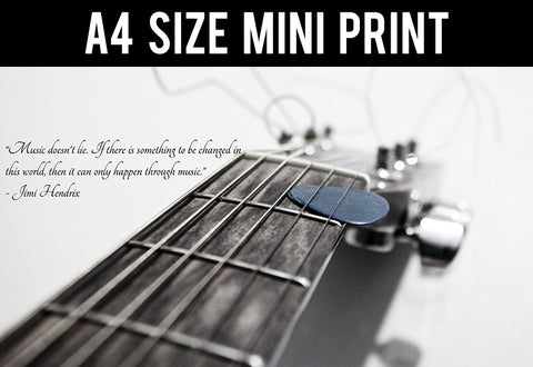 Mini Prints, Importance of Music | Hendrix Quote | Mini Print, - PosterGully