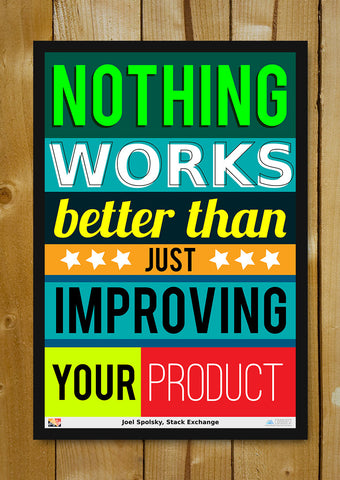 Glass Framed Posters, Improve Your Product  Stack Exchange Glass Framed Poster, - PosterGully - 1
