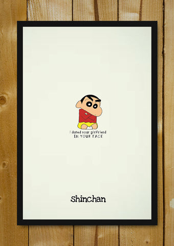 Glass Framed Posters, In Your Face Shinchan Glass Framed Poster, - PosterGully - 1
