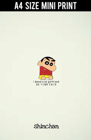 Mini Prints, In Your Face Shinchan | Mini Print, - PosterGully