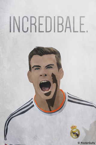 Wall Art, Incredible Gareth Bale - Real Madrid, - PosterGully