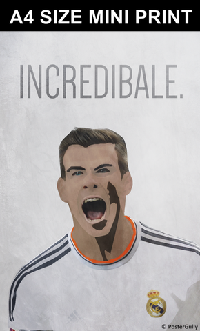 Mini Prints, Incredible Gareth Bale - Real Madrid | Mini Print, - PosterGully