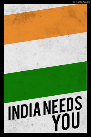 Wall Art, India Needs You, - PosterGully
