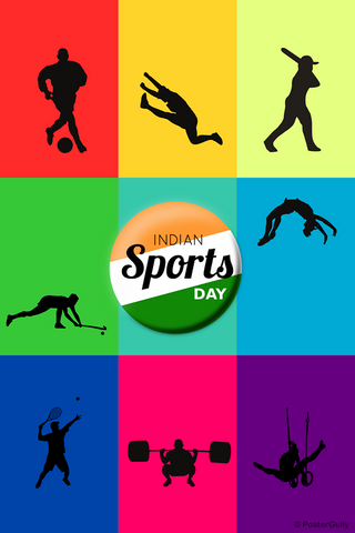 Wall Art, Indian Sports Day, - PosterGully