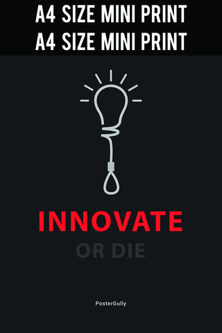 motivational office posters. Mini Prints, Innovate Or Die | Print, - PosterGully Motivational Office Posters