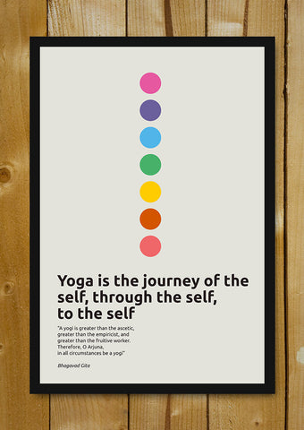 Glass Framed Posters, Inspirational Yoga Quote  Bhagavad Gita Glass Framed Poster, - PosterGully - 1