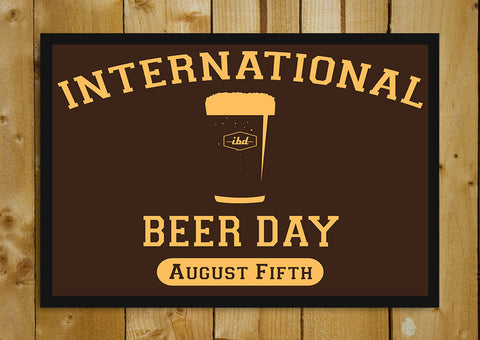 Glass Framed Posters, International Beer Day Glass Framed Poster, - PosterGully - 1