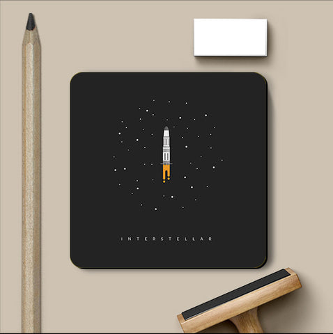 PosterGully Coasters, Interstellar Endurance Coaster | Artist: Devansh Gandhi, - PosterGully