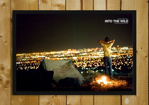 Glass Framed Posters, Into The Wild  Campfire Glass Framed Poster, - PosterGully - 1