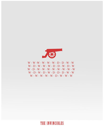 PosterGully Specials, Arsenal Invincibles | Minimal Art, - PosterGully