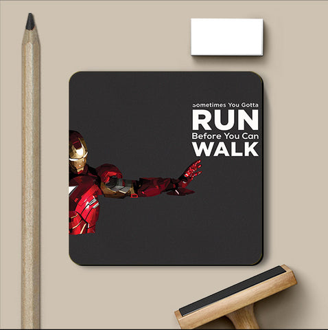 PosterGully Coasters, Iron-Man Quote Coaster | Artist: Rohit Malhotra, - PosterGully