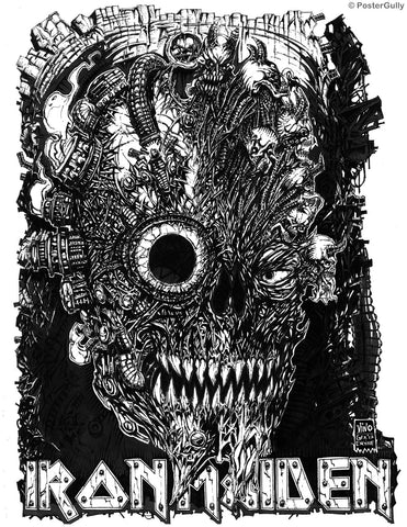 Wall Art, Iron Maiden Line Art, - PosterGully