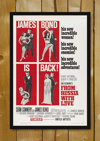 Glass Framed Posters, James Bond From Russia With Love Glass Framed Poster, - PosterGully - 1