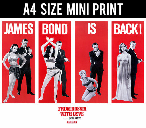 Mini Prints, James Bond is Back | Mini Print, - PosterGully