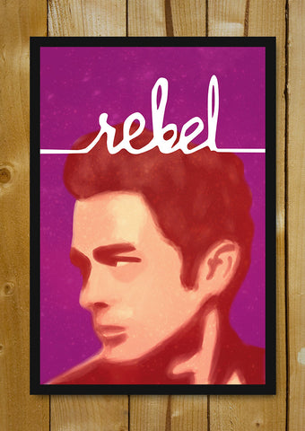 Glass Framed Posters, James Dean Rebel Artwork Glass Framed Poster, - PosterGully - 1