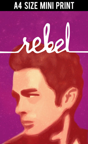 Mini Prints, James Dean | Rebel | Minimal | Mini Print, - PosterGully