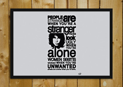 Glass Framed Posters, Jim Morrison Quote Glass Framed Poster, - PosterGully - 1