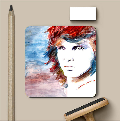 PosterGully Coasters, Jim Morrison Watercolor Coaster | Artist: Sunanda Puneet, - PosterGully