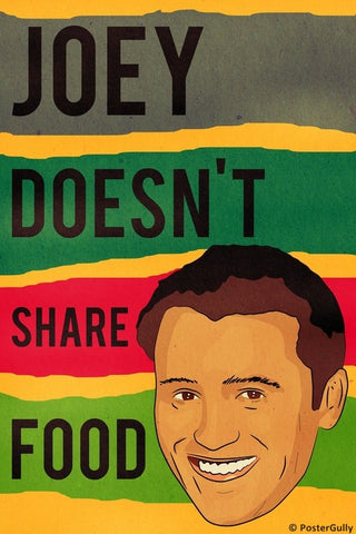 Wall Art, Joey Food | Friends | Vintage, - PosterGully